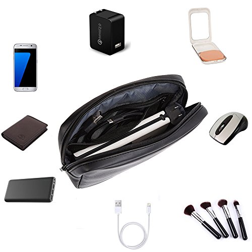 ProCase Accessories Bag Organizer Power Bank Case, Electronics Accessory Travel Gear Organize Case, Cable Management Hard Drive Bag -Black by ProCase (Image #6)