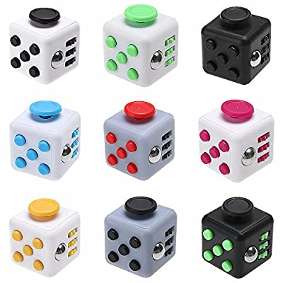 Fidget Cube Relieves Stress and Anxiety , Increase Attention, Anti Stress, Relax and Entertain, Great for ADHD, Autism and Asperger, For Focus, Calm Anxiety, and Break Nervous Habits