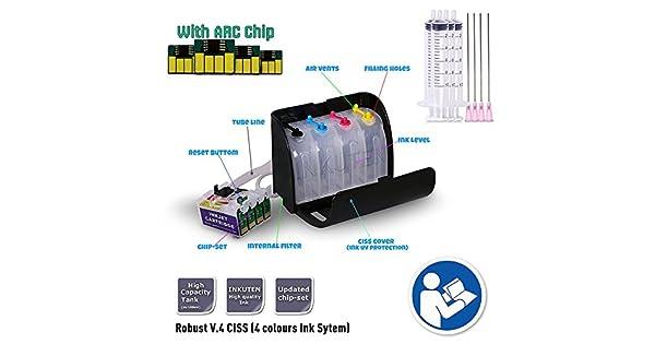 Amazon.com: inkuten CISS sistema de suministro de tinta ...