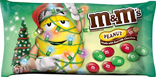 M&M's Peanut Chocolate Candies for The Holidays, 11.4 (Single Colored M&ms)