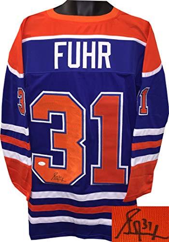 954977937 Grant Fuhr Autographed Blue TB Custom Stitched Pro Hockey Jersey  31 ...