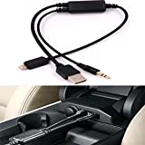 ELONN USB AUX IN Adapter Cable for BMW/Mini,Stereo Audio Music Interface Adapter in car ,Connect iPhone 5 6 7 8 X /iPhone 7Plus