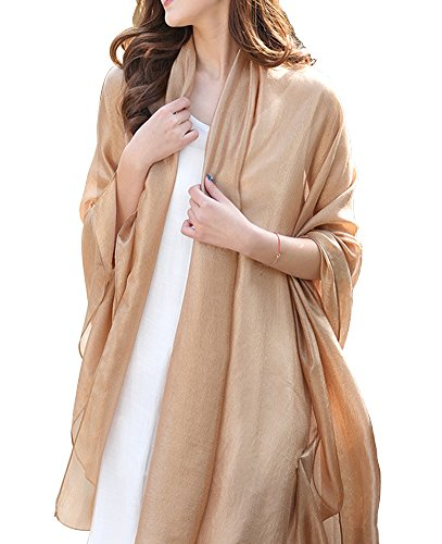 Silky Wrap Scarf Chiffon Oversized Sunscreen Beach Scarves for Women Stole Shawls by CozzyLife