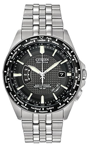 citizen men 39 s eco drive watch with black dial analogue. Black Bedroom Furniture Sets. Home Design Ideas
