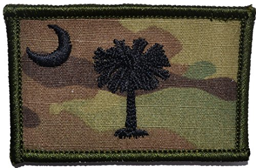 - Flag of South Carolina 2x3 Morale Patch - Multiple Color Options (Multicam)