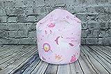 Better Dreams Childrens Bean Bag Unicorn Design 100% Cotton 50cm Wide x 62cm High