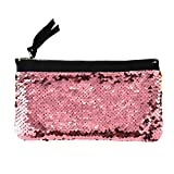Clearance! Women Make-up Bag Double Color Sequins Coin Cards Holder Purse Wallet Pencil Pouch (H)