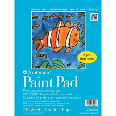 6 Pack 9'' x 12'' Tape Bound Paint Pad (Product Catalog: Paper Media, Canvas & Surfaces)