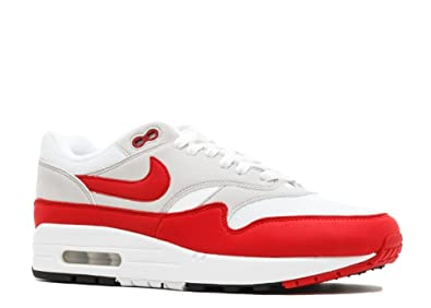 Nike Air Max 1 Anniversary Mens Sneakers 908375-103 - White/University Red-