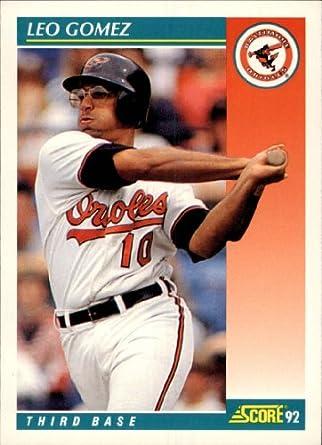 Amazoncom 1992 Score Baseball Card 240 Leo Gomez Collectibles