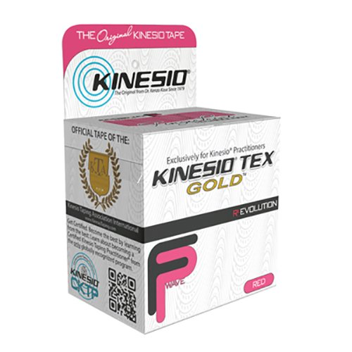 Kinesio Tape, Tex Gold FP, 2'' x 5.5 yds, Red, 6 Rolls