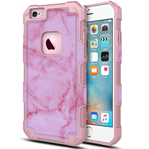 Slim Sleek Shockproof Case for iPhone 6 Plus/6s Plus (Hot Pink) - 4