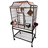 A&E Cage Co 32' x 21' x 61' Elegant Flight Cage, Burgundy