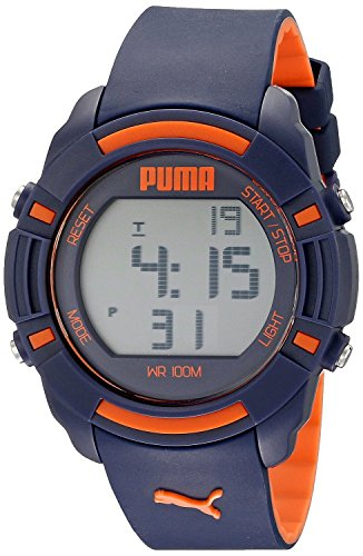 PUMA Unisex PU911221001 Bytes Digital Display Analog Quartz Black Watch