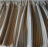 Valance Black and Cream Ticking Cotton 42″ W X 14″ L Window Treatment Curtain Review