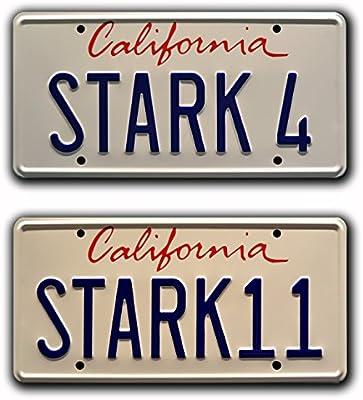 STARK 4 Metal Stamped Vanity Prop License Plate Celebrity Machines Iron Man Tony Starks 2007 Audi R8