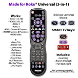 Anderic 3-Device Universal Remote Control for ALL TVs / Roku...