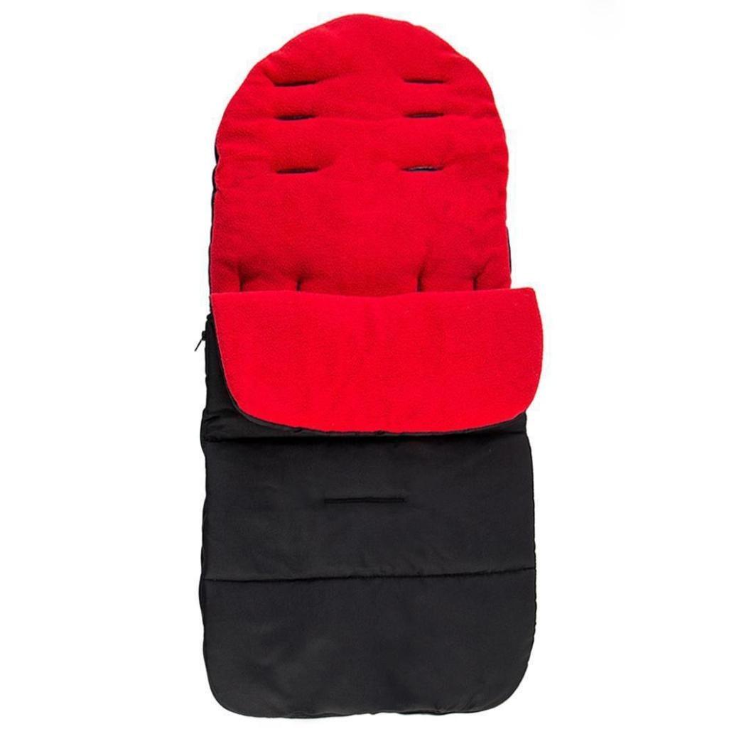 Universal Footmuff Reversible Seat For Baby Toddler Liner Buggy Pram Stroller (Red)