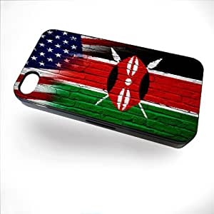 Case for iPhone 5 / 5S with Flag of Kenya and USA - Bricks