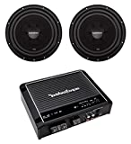 2) Rockford Fosgate R2SD4-12 12' Shallow Car Subwoofers+R500X1D Mono Amplifier