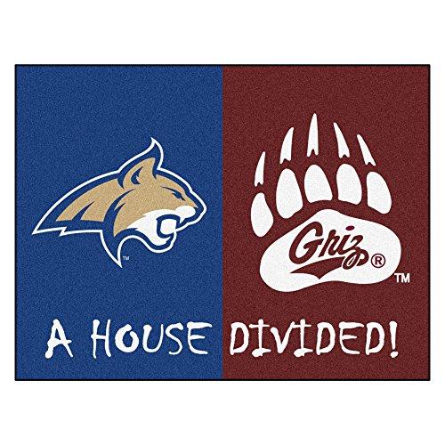 NCAA House Divided - Montana/Montana State House Divided Non-Skid Mat Rectangular Area Rug