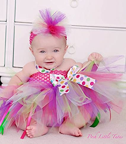 TTS Crochet Top Infant Vestido Cintura Elástica Diadema tutú Suministros para bebé niñas 16 colores, Crochet-Emerald, Crochet tube 8