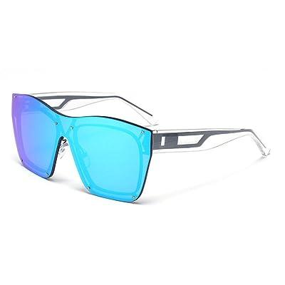 Alger Lunettes de soleil en métal cadre une tranche mode unisexe conduite lunettes de voyage anti-UV , B
