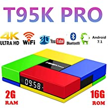 T95K PRO Android 7.1 TV Box Octa Core Amlogic S912 with Dual Band WiFi 2.4GHz/5.0GHz Bluetooth 4.0 RAM 2GB ROM 16GB Support 4K/3D/HD