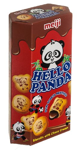 Meiji Hello Panda Biscuits with Chocolate Cream, 2-Ounce Boxes (Pack of 20) Cream Chocolate Biscuit