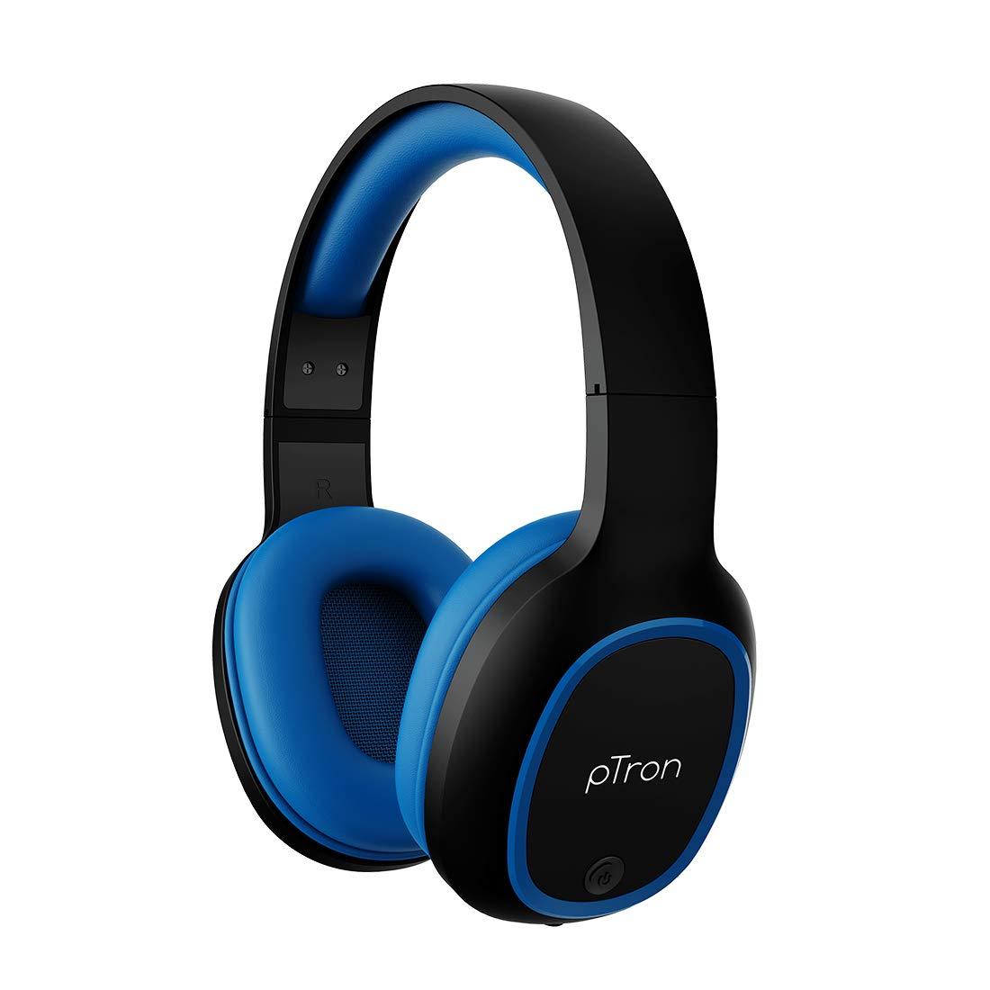 PTron Studio Over-Ear 5.0 Bluetooth Wireless Headphones $10.9 Coupon