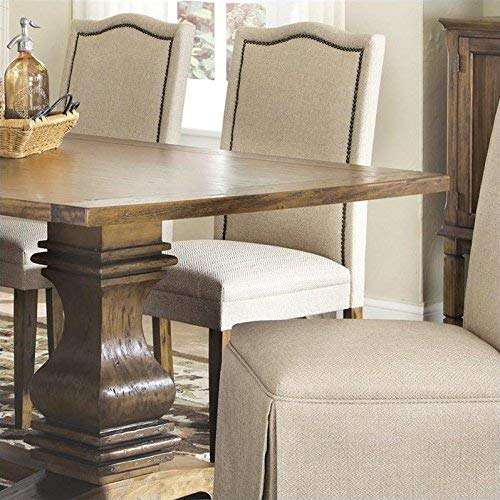 (Parkins Parson Chairs Ivory and Rustic Amber (Set of)