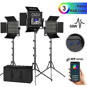 2pcs Kit Emart 60 LED Video Light Studio Photography Camera Photo Lighting Set