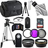 Professional 55MM Accessory Bundle Kit For Nikon D3400 D5600 D3300 AF-P & DSLR Cameras, 15 Accessories for Nikon