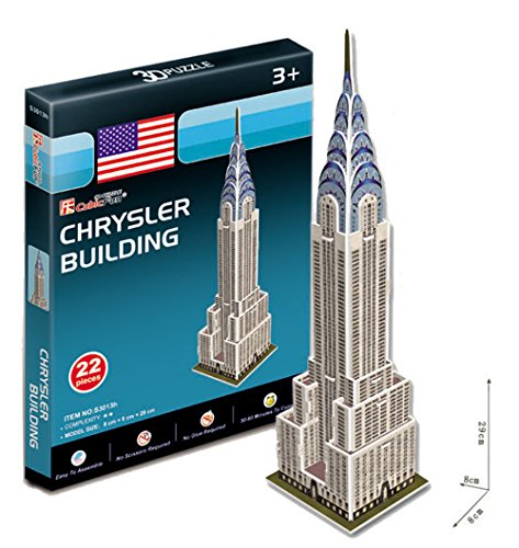 (Chrysler Building 3D Puzzle Boys Girls Model Paper DIY Educational Toy)