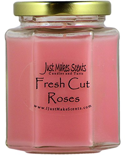 Fresh Cut Roses (Yankee Candle type) Scented Blended Soy Candle by Just Makes Scents