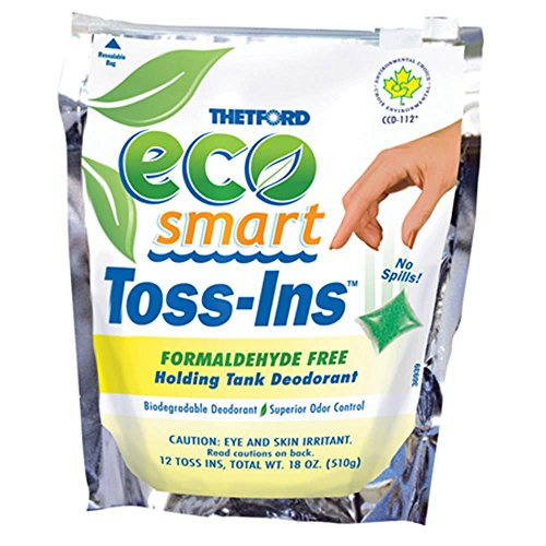 Thetford Eco-Smart Toss-Ins Holding Tank Deodorant 12-1.5 oz packets 32952 (Safety Deodorant)