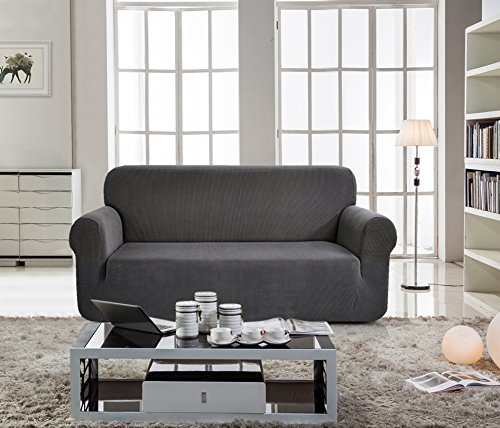 Sofa Covers Amazon: Chunyi Jacquard Sofa Covers 1-Piece Polyester Spandex
