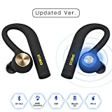 [Updated Ver.] STERIO True Wireless Bluetooth Earbuds V4.2 Wireless Bluetooth Headsets IPX5 Sweatproof Stereo Bluetooth Headphones with Mic for iOS and Android Devices(Apple, Samsung, LG, HTC, Google)