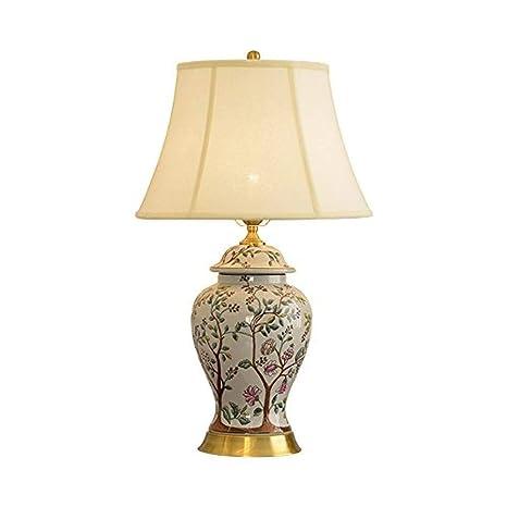 Sala de estar Lámpara de mesa vintage Lámpara de mesa de cerámica ...