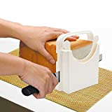 Bread Slicer Toast Slicer Yummy Sam Toast Cutting Guide Bread Toast Bagel Loaf Slicer Cutter Mold Sandwich Maker Toast Slicing Machine Folding and Adjustable with 5 Slice Thickness