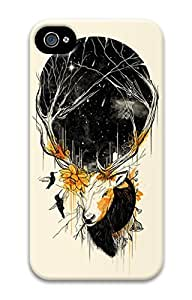 Abstract Painting Nest Durable 3D Case for iphone 4/iphone 4s