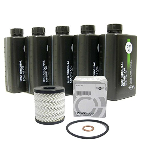 Mini Cooper/Cooper S Oil Change Kit 5W-30 - Clubman R55, Hardtop R56, Convertible R57, Coupe R58, Roadster R59, Countryman R60, Paceman R61 ()