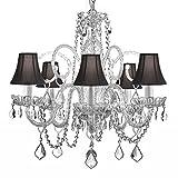 5 Light Venetian Style Modern Crystal Chandelier with Dark Shades