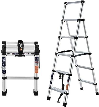 Zhicaikeji Escalera De Extensión Escalera De Extensión De Aluminio Interior Y Exterior Versátil Escalera Telescópica Compacta Ligera Y Portátil Escalera Plegable Extensión (Color : Silver, Size : M1): Amazon.es: Hogar