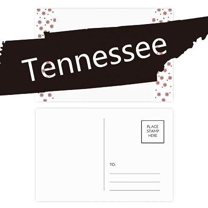 Amazon.com : Tennessee USA Map Silhouette Christmas Flower Postcard ...
