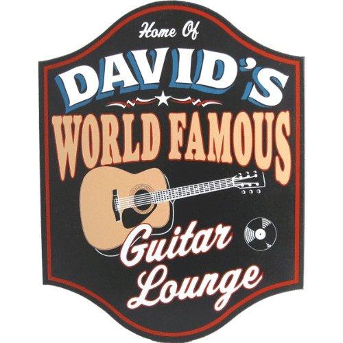 World Famous Guitar Lounge Custom Wooden Novelty Sign ()