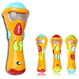 Itian Microphone Kids Toys Baby Sing & Learn Microphone (Recording Transform Acoustic,Songs and lighting) Electronic Karaoke Musical Star Christmas Gifts