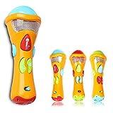 Itian Microfono Karaoke Giocattoli per Bambini - Microfono con Registrazione Vocale, Transform Acoustic, Canzoni e Luci Colorate