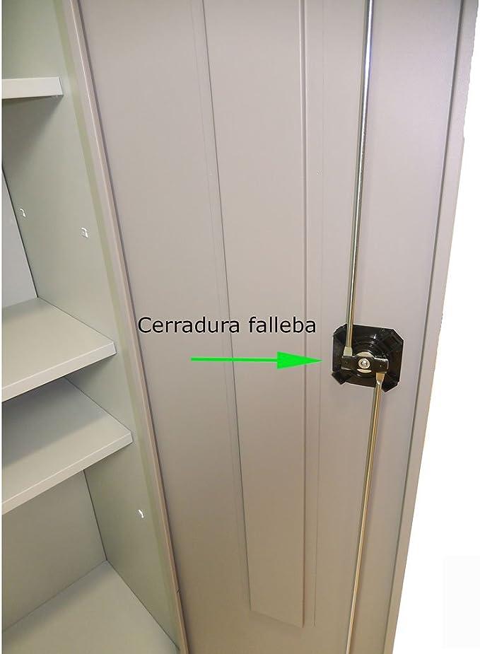 Armario metálico de Ordenación Serie Venecia. Cierre Cerradura ...