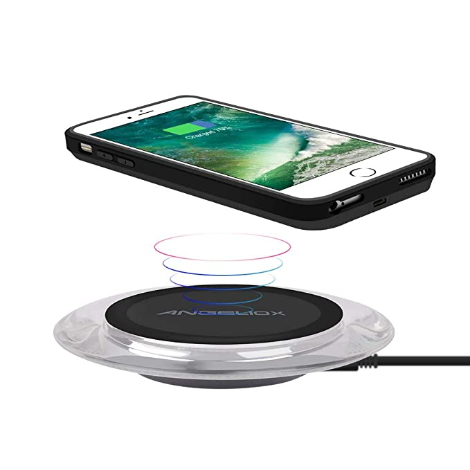 finest selection 66770 4143e Wireless Charger with Qi Wireless Charging Receiver Case for iPhone 7  Plus/6S Plus/6 Plus(5.5
